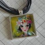Bloom glass tile pendant NE..