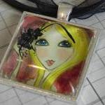 Glitter Girl glass tile pen..