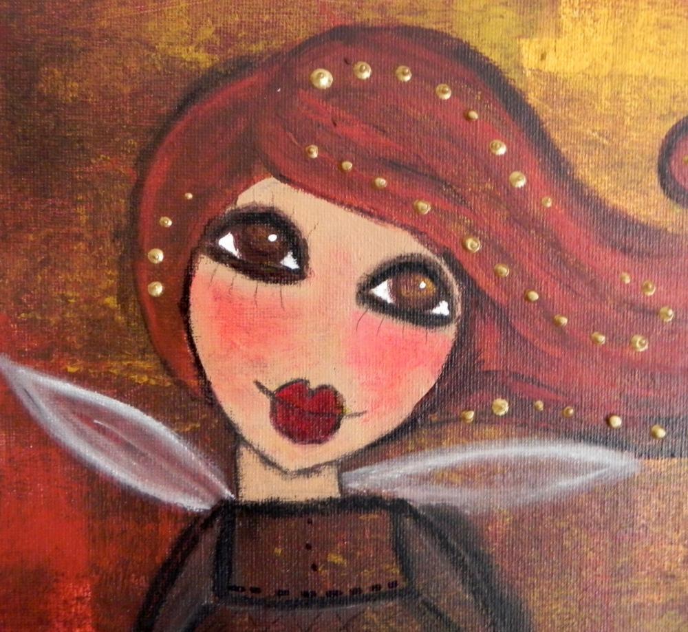 Autumn Angel with scripture 11x14 ORIGINAL ANGEL ART